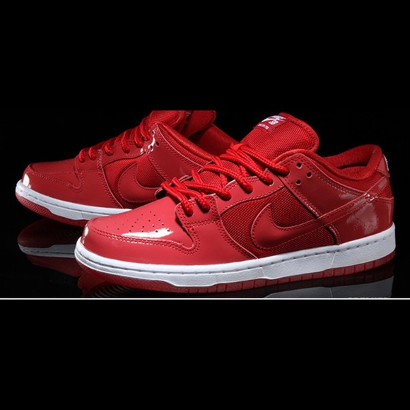 best service eebbc 9f9a7 Nike Dunk Low Pro Red Patent Leather Retro Jordan